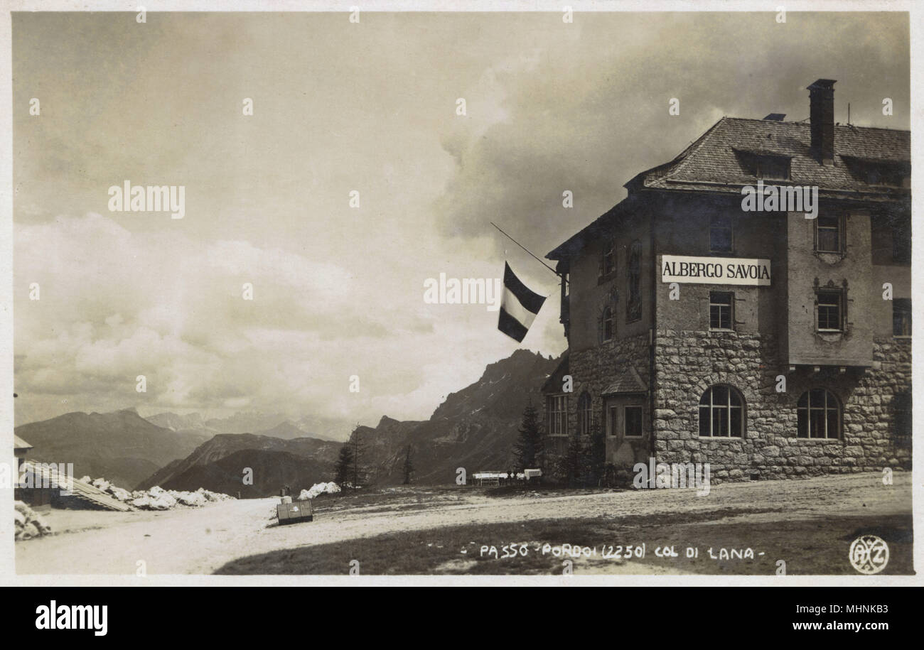 Passo Pordoi (Passo Pordoi) - Col de Lana - Dolomiti, Italia Data: circa 1920s Immagini Stock