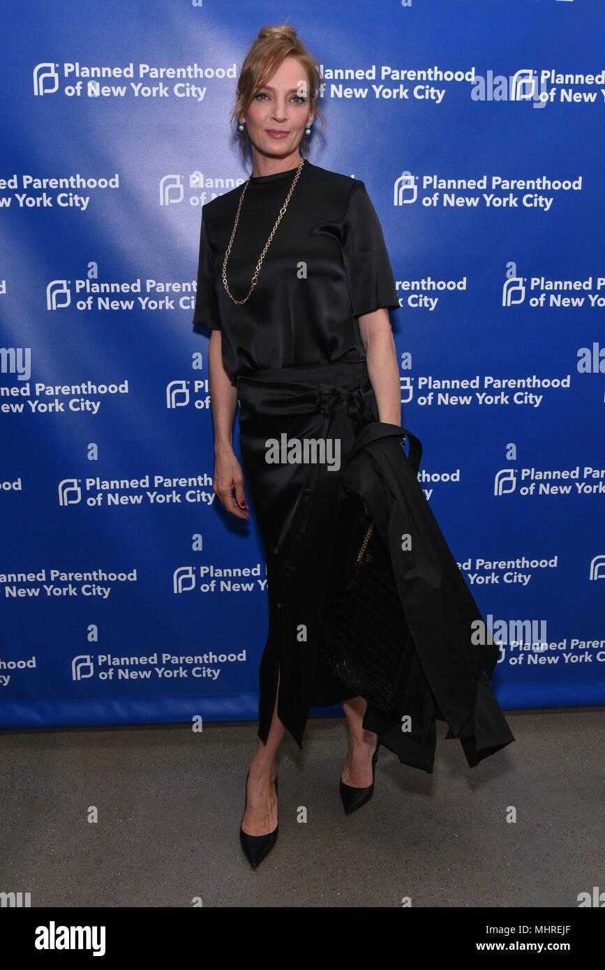 New York, Stati Uniti d'America. Il 1 maggio 2018. Uma Thurman assiste il Planned Parenthood's 2018 molla nel Gala di azione a molla Studios il 1 maggio 2018 a New York City. Credito: Erik Pendzich/Alamy Live News Immagini Stock
