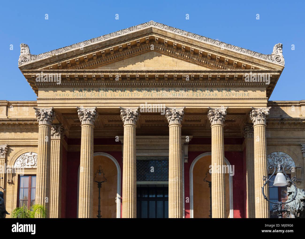 Teatro Massimo di Palermo, Sicilia, Italia Immagini Stock