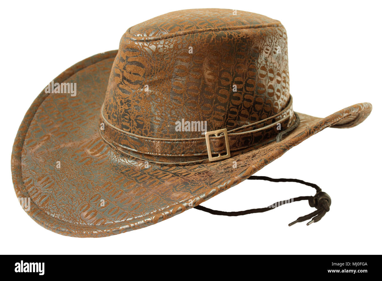 Marrone cappello da cowboy isolato su sfondo bianco Immagini Stock 9af5b2cba83c