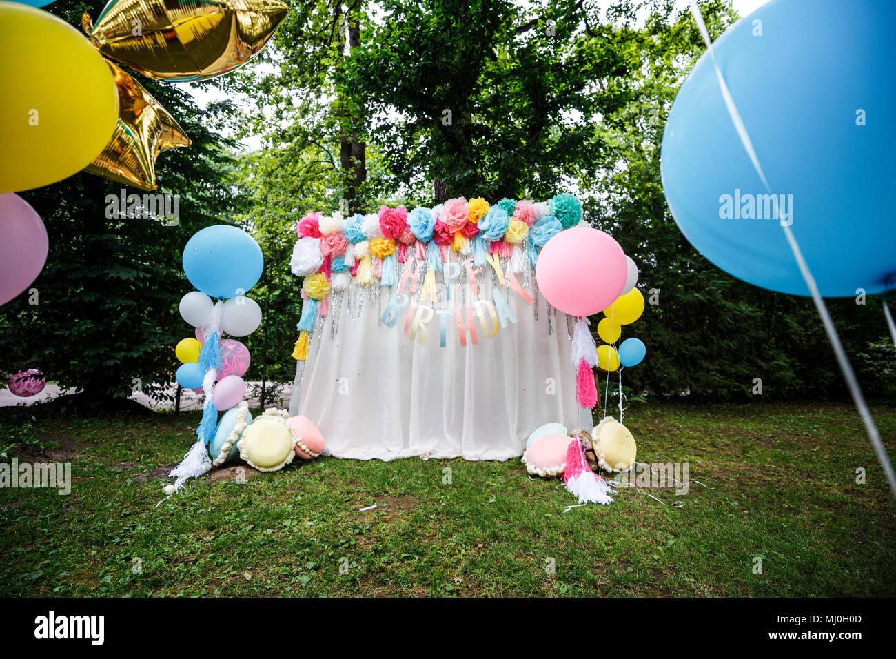 abbastanza Decorazione con palloncini per un bambino festa di compleanno Foto LR14