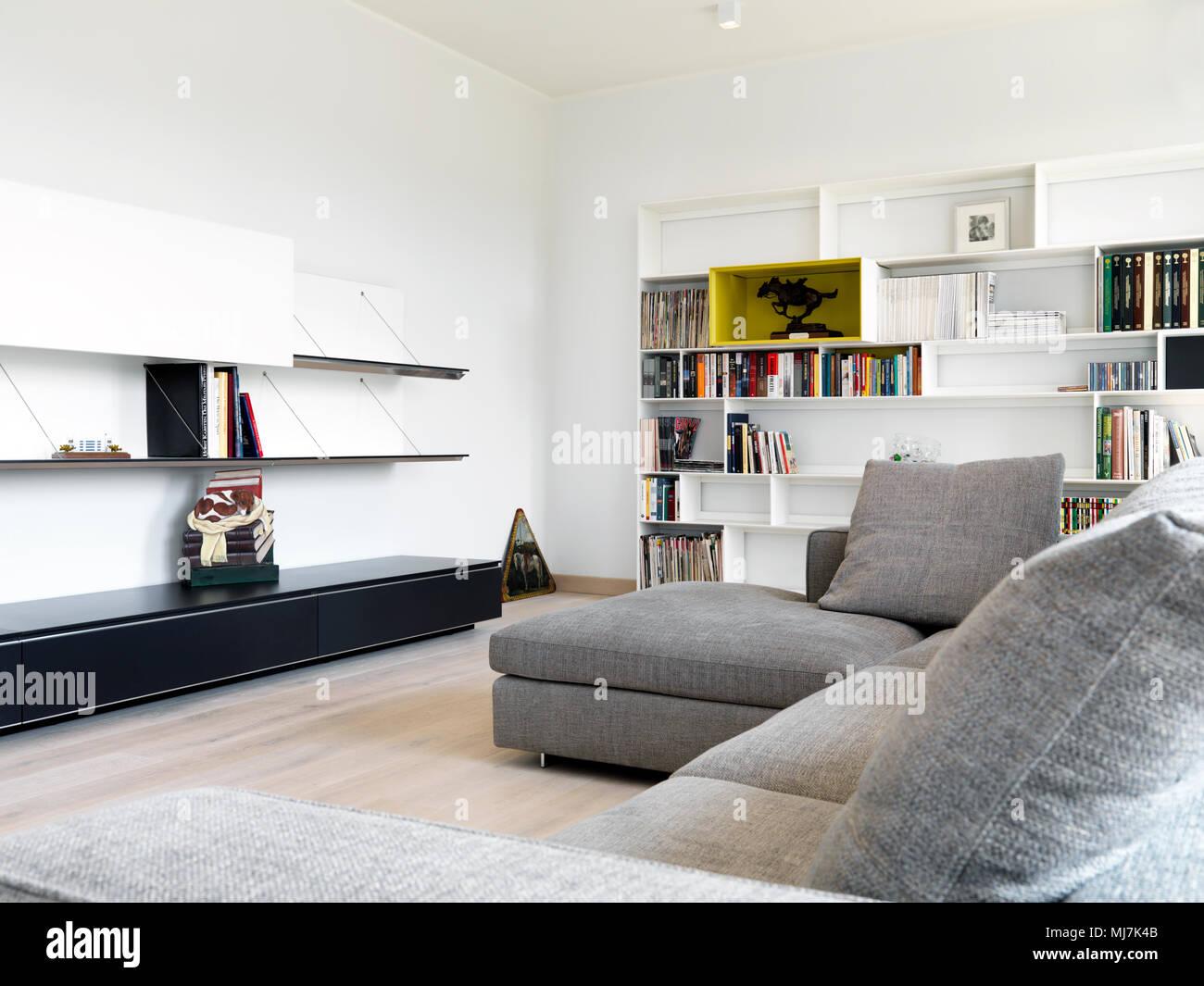 Salotto Moderno Grigio : Mobili giorno day laccato grigio e bianco diotti a f arredamenti
