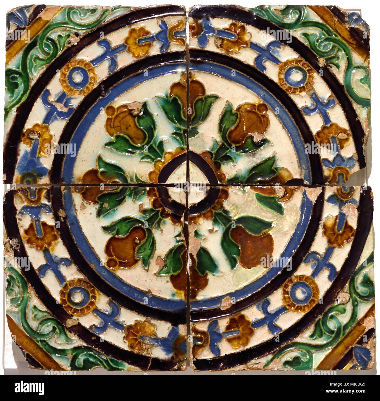 Arista tecnica 1500-1510 di Siviglia del XVI secolo Spagna - Spagnolo Immagini Stock