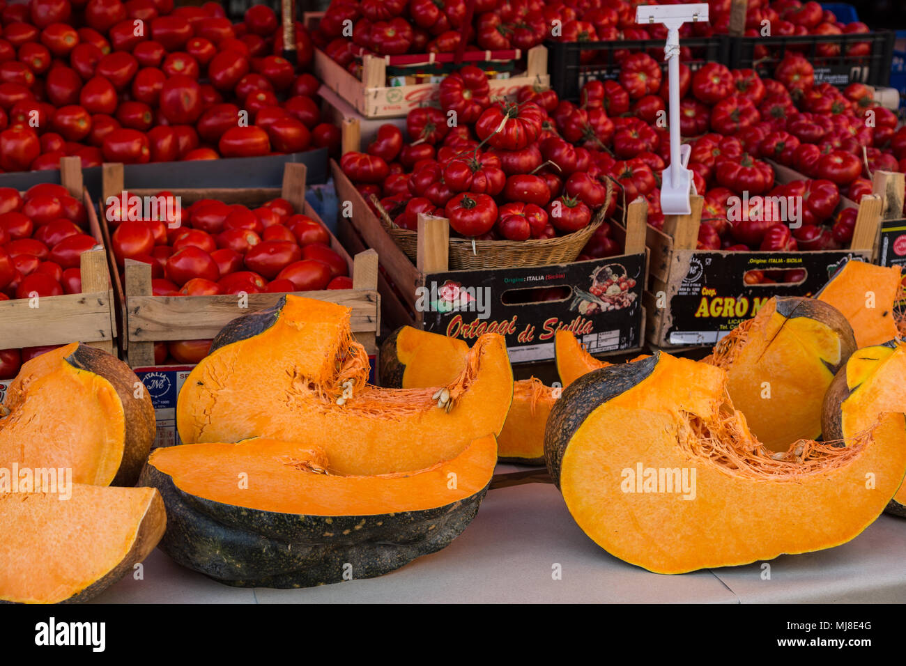 Palermo, Ballarò mercato, Sicilia, Italia Immagini Stock