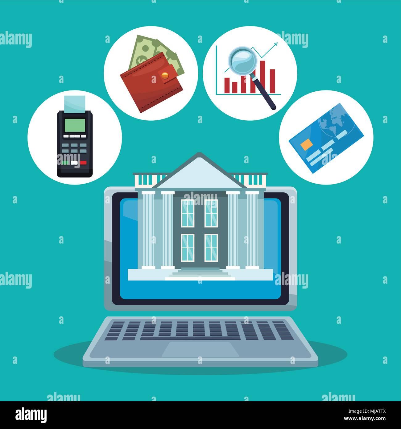 Finanziaria il concetto di tecnologia Immagini Stock