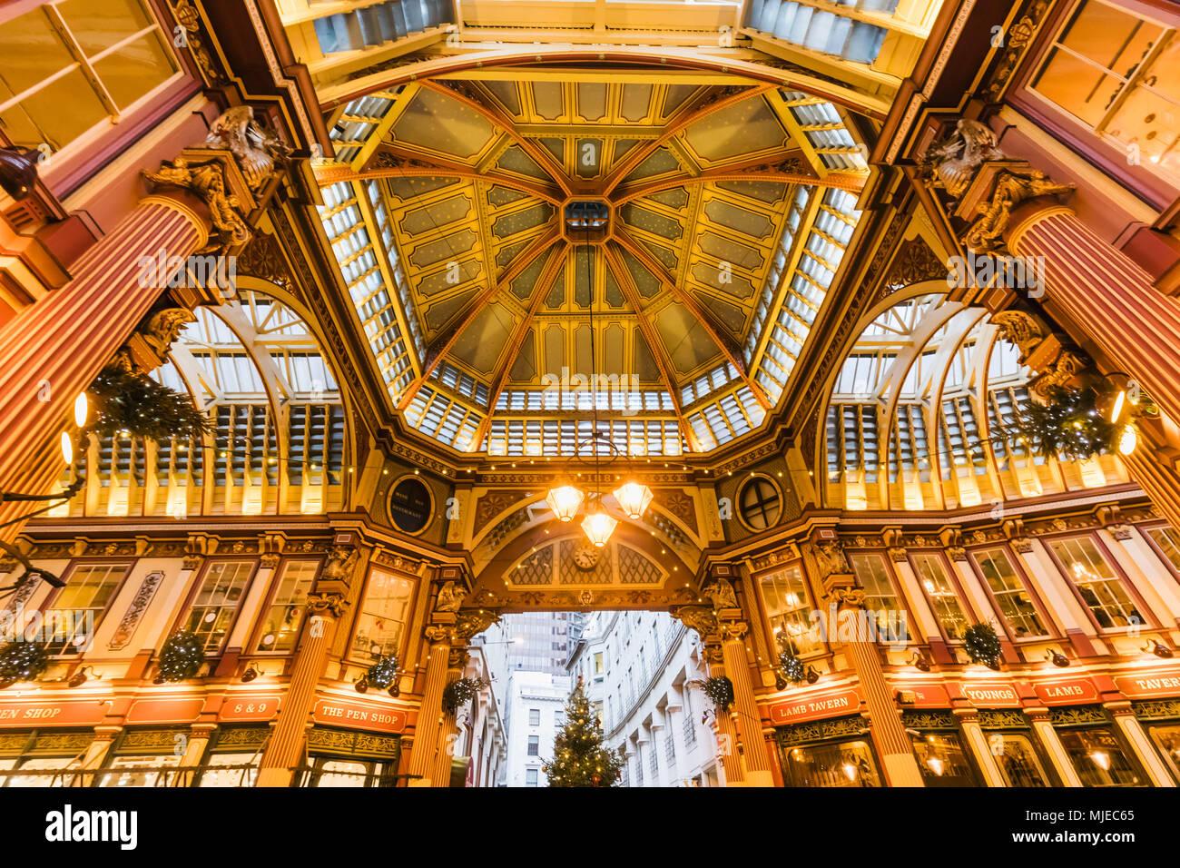 Inghilterra, Londra, Città di Londra, mercato Leadenhall Immagini Stock