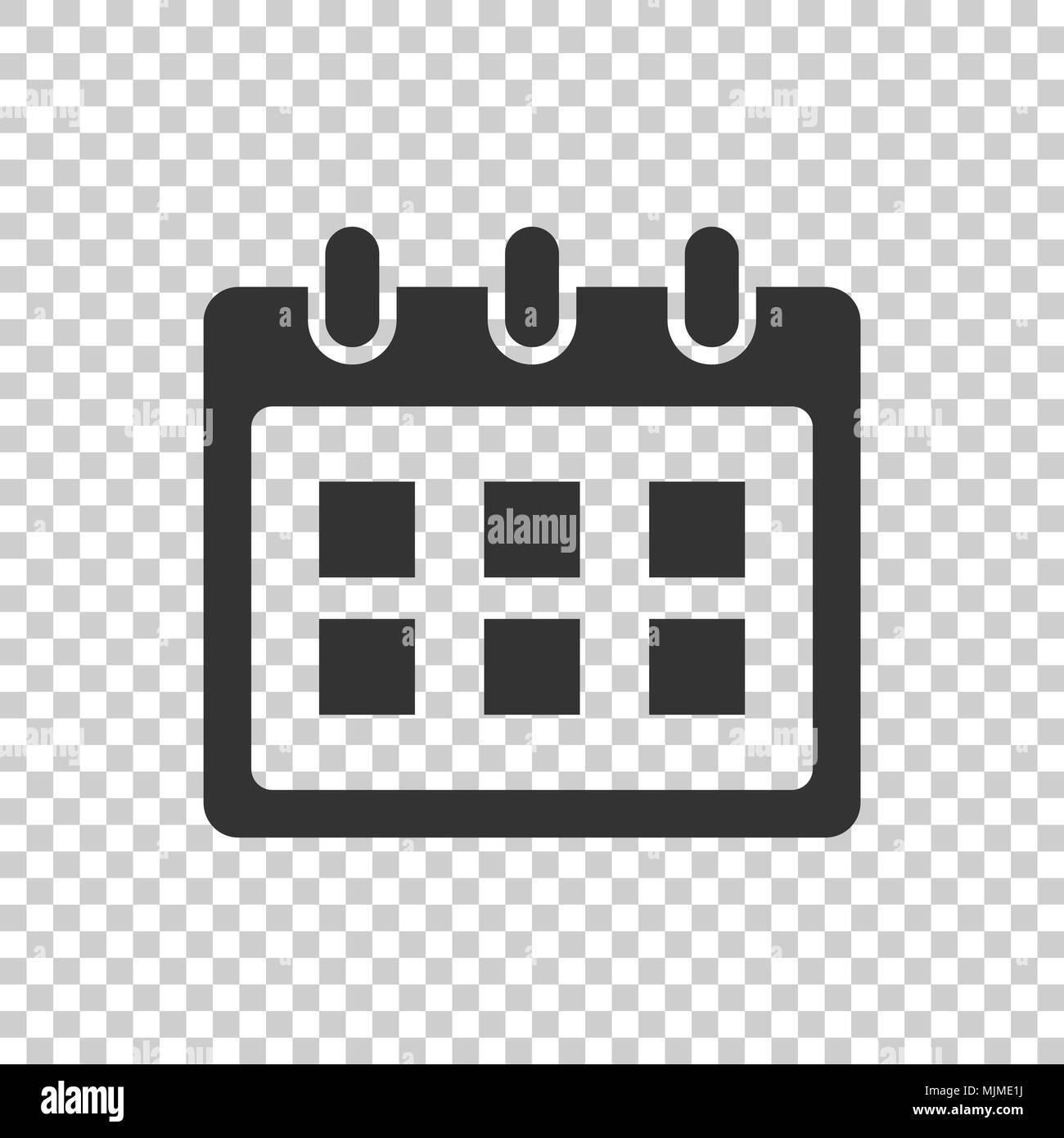 Calendario Icona.Calendario Icona Vettore Nota Agenda Segno Illustrazione