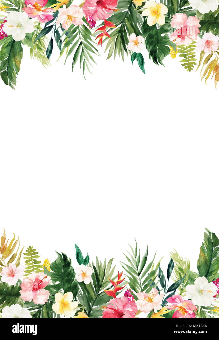 Il Bianco Verticale Carta Bianca Di Sfondo Colorato Con Piante E