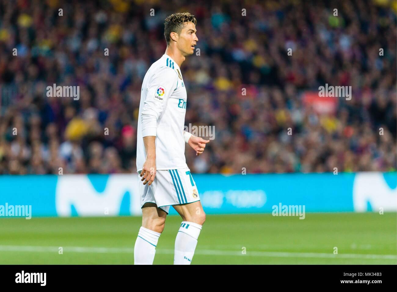 Real Madrid Avanti Cristiano Ronaldo 7 Durante La Partita Tra Fc