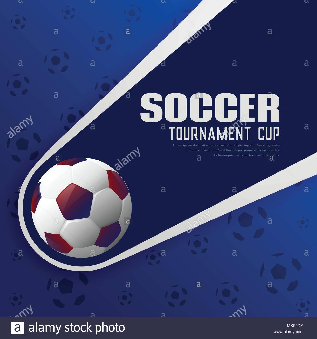 Torneo Di Calcio Sport Calcio Sfondo Poster Illustrazione