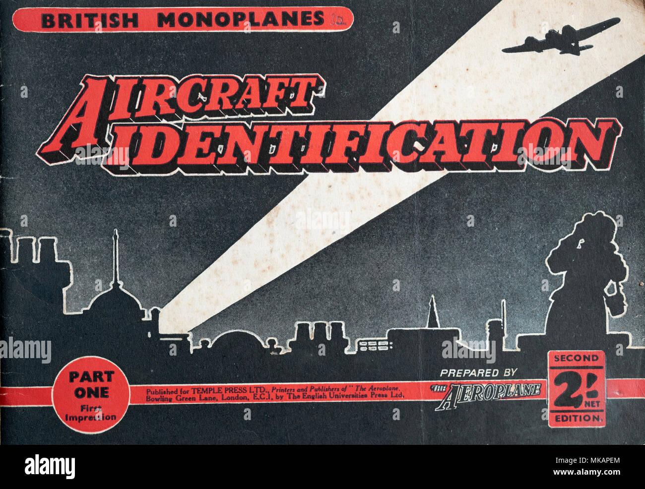 BRITISH MONOPLANES, identificazione dell'aeromobile, seconda guerra mondiale, seconda guerra mondiale, di aeromobili Foto Stock