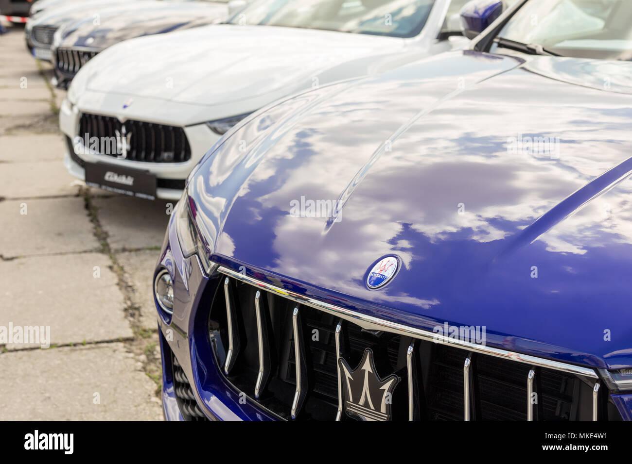 Kiev Ucraina Aprile 28th 2018 Close Up Maserati Auto Della