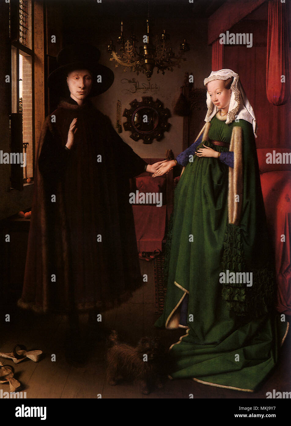 Il matrimonio di Giovanni Arnolfini Immagini Stock