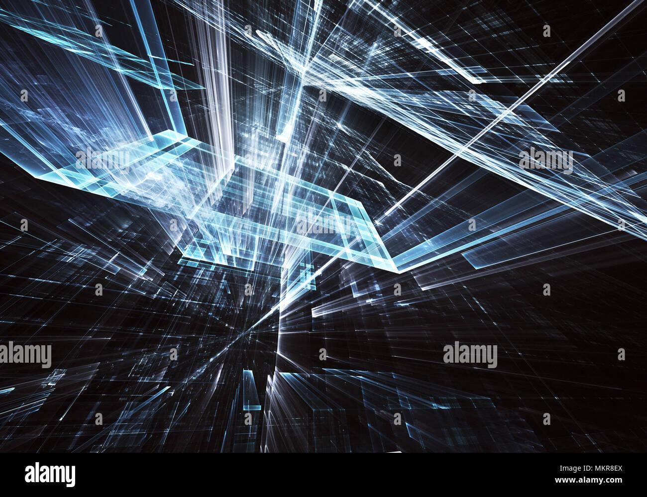 Abstract la tecnologia del futuro di sfondo - generati con il ...