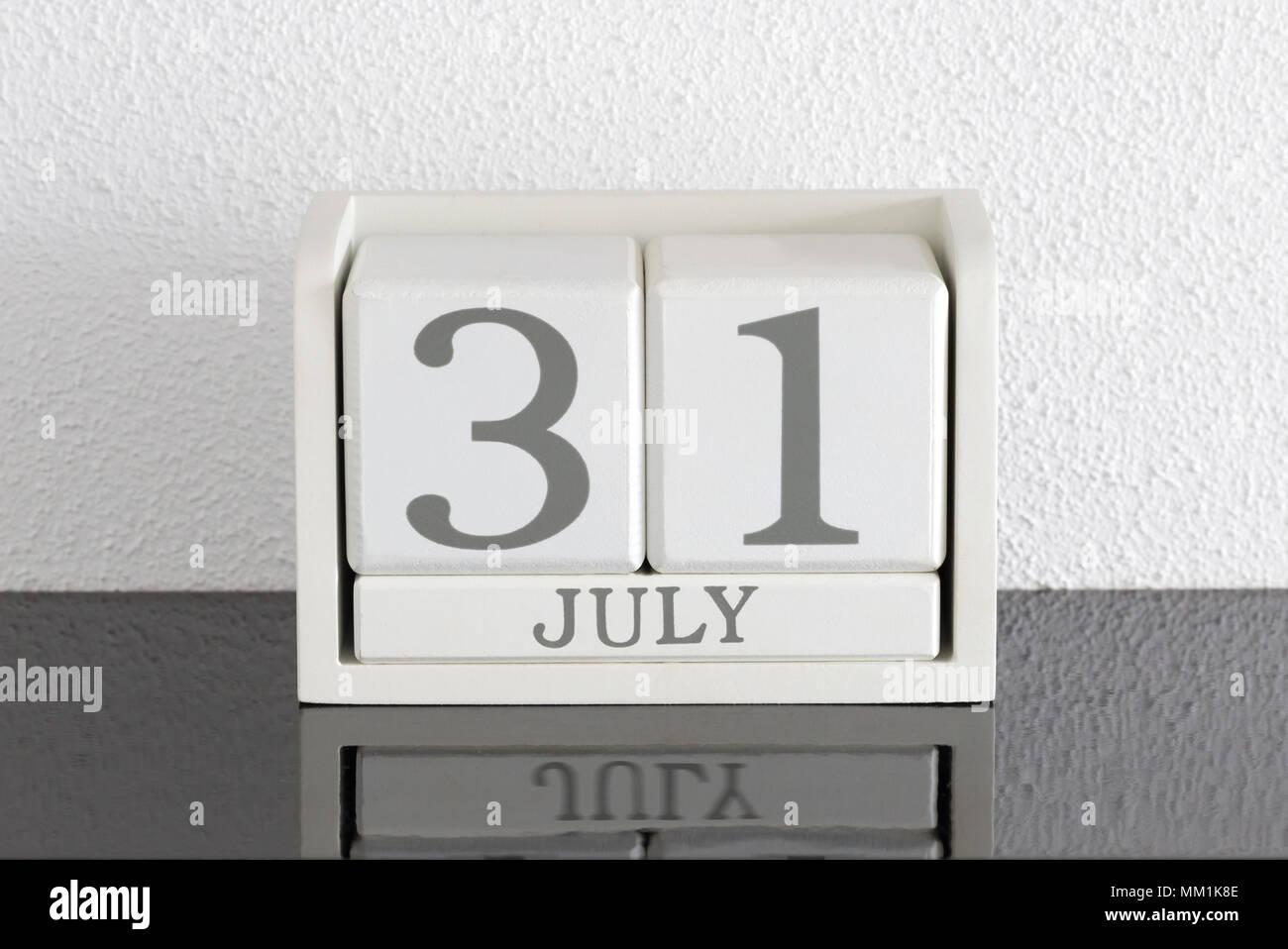 Calendario 31 Luglio.Block Bianco Calendario Data Presente 31 E Mese Di Luglio
