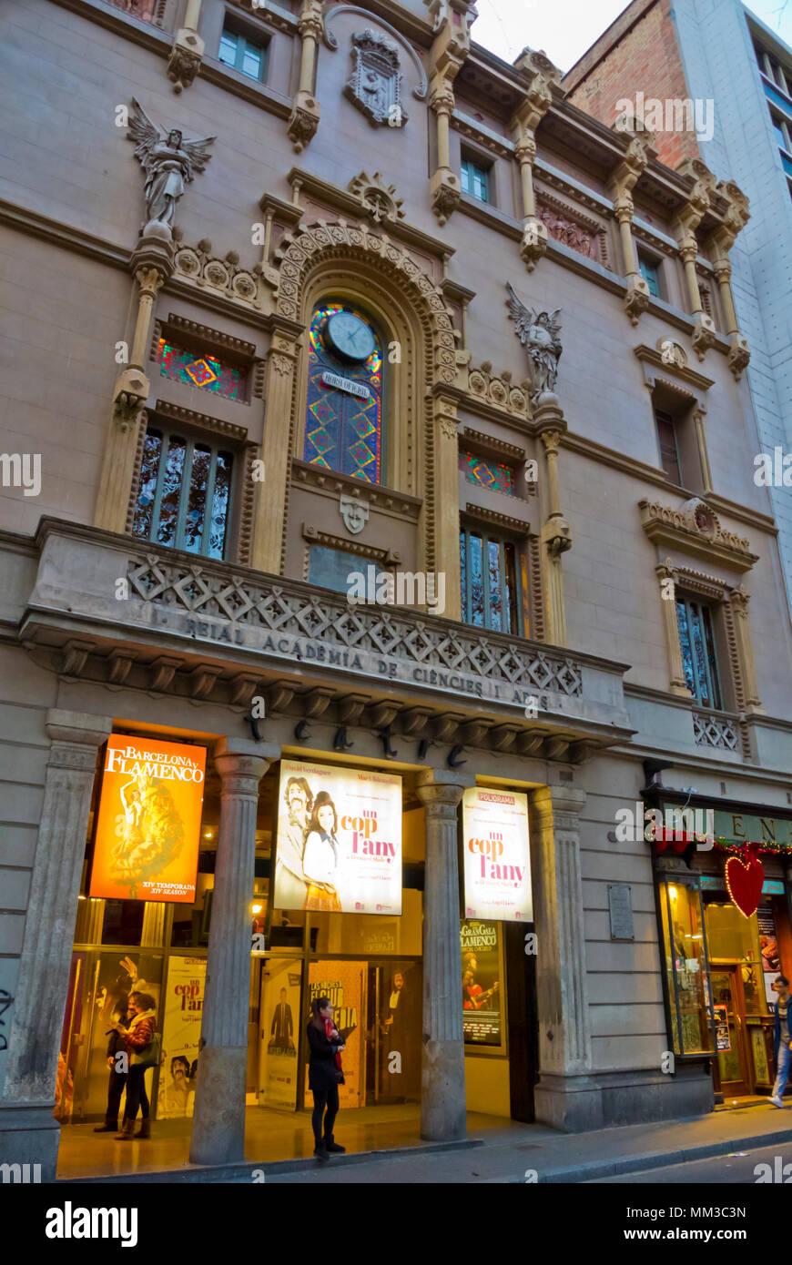 Teatre Poliorama, La Rambla, Barcelona, Catalogna, Spagna Immagini Stock