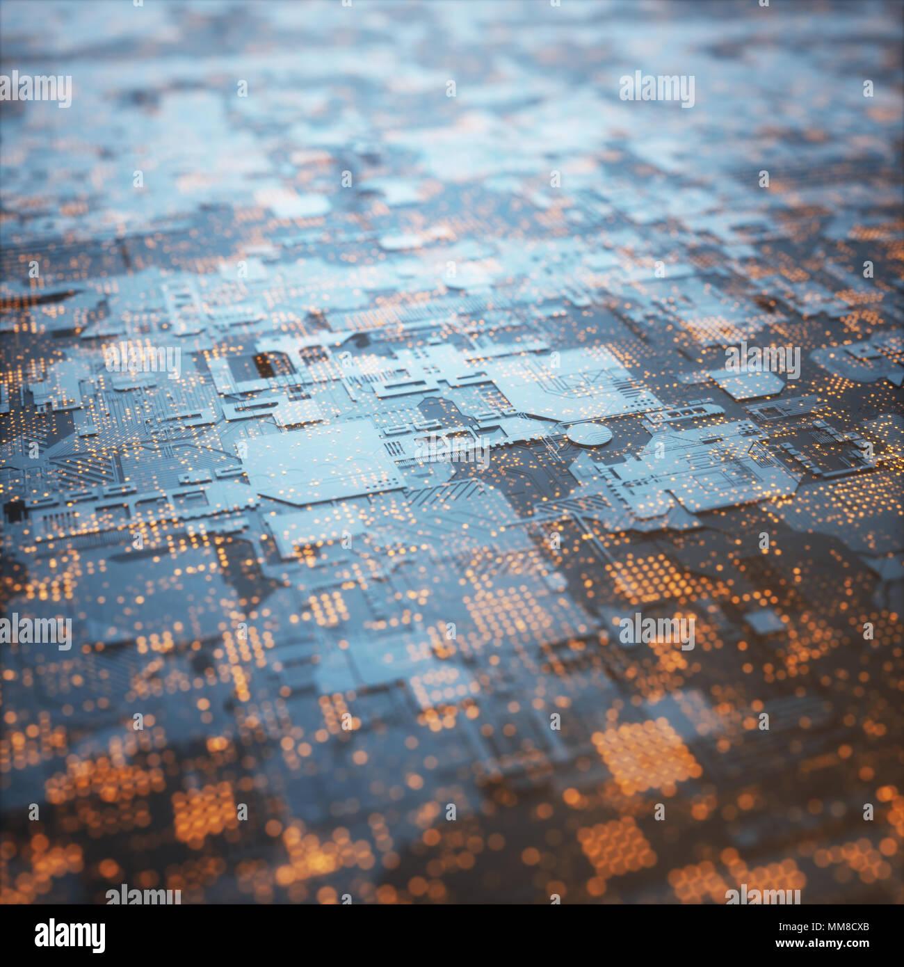 3D'illustrazione. Abstract struttura 3D per usare come sfondo in tema tecnologico. Immagini Stock