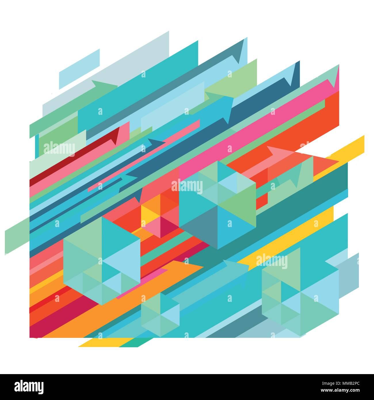 Configurazione dinamica, illustrazione astratta Immagini Stock