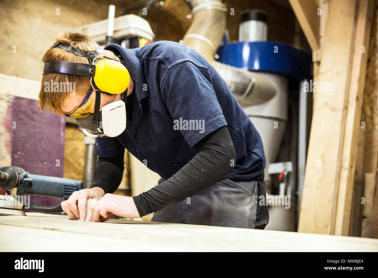 maschera antipolvere per legno