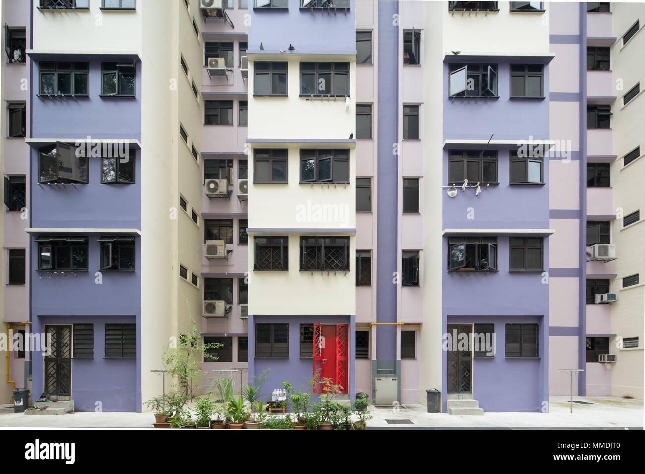 Architettura di un design immobiliare a Singapore. Foto Stock