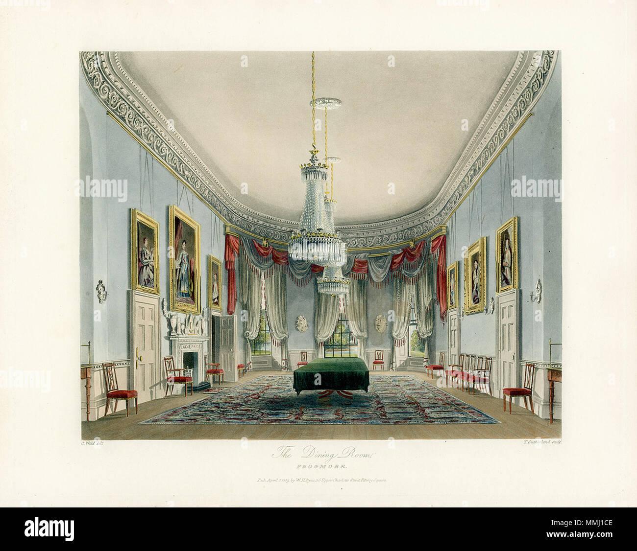 Inglese: una vista della sala da pranzo in Frogmore House La sala da ...