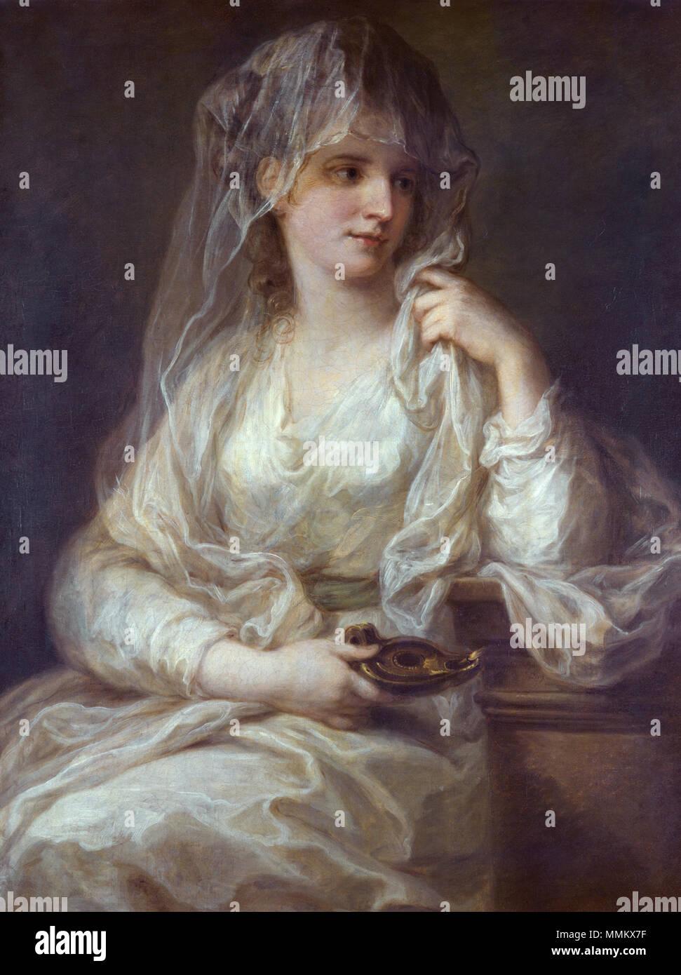 Ritratto di signora come Vestale *olio su tela *91,5 x 71,5 cm *ca. 1781/82 Angelica Kauffmann 005 Immagini Stock