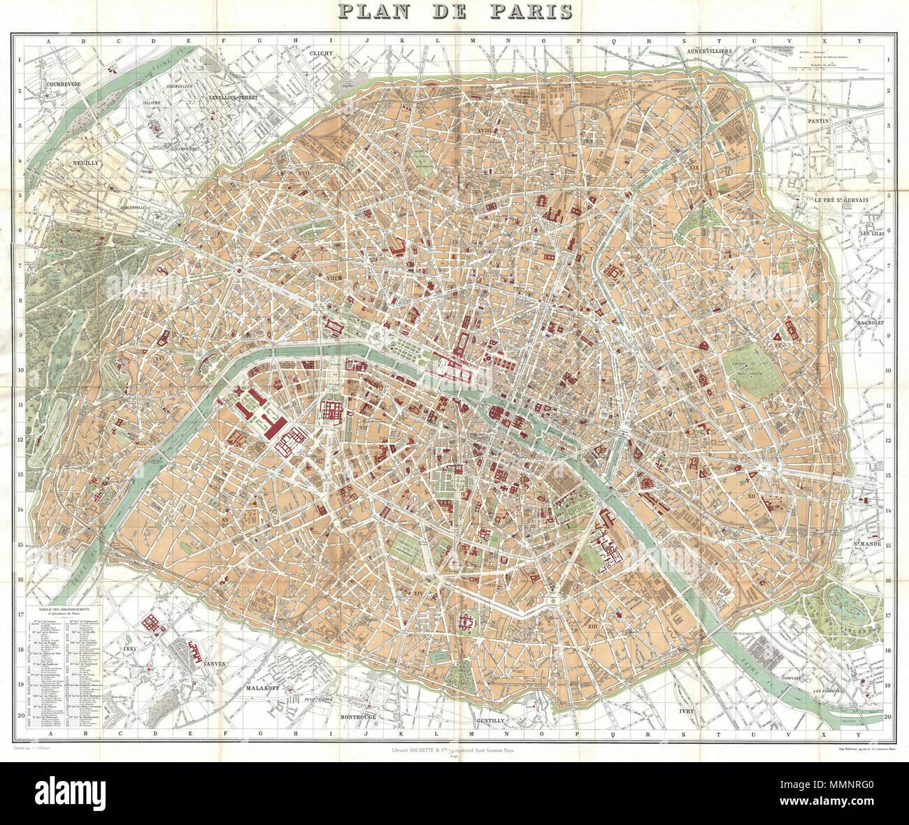 Cartina Politica Di Parigi.Mappa Tascabile O Piano Di Parigi Immagini E Fotos Stock Alamy