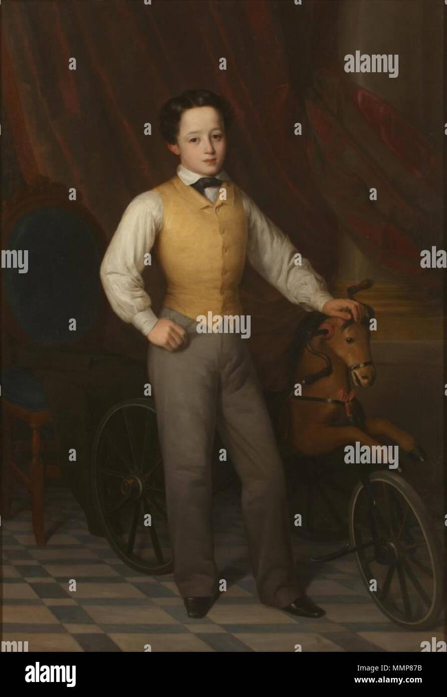Alfredito Romea y Díez (Museo del Romanticismo de Madrid) Immagini Stock
