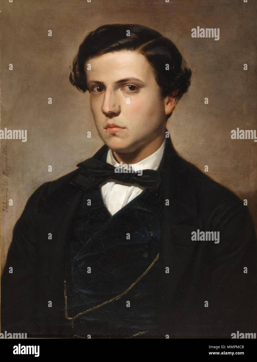 Antonio Díaz de Mendoza (Museo del Romanticismo de Madrid) Immagini Stock