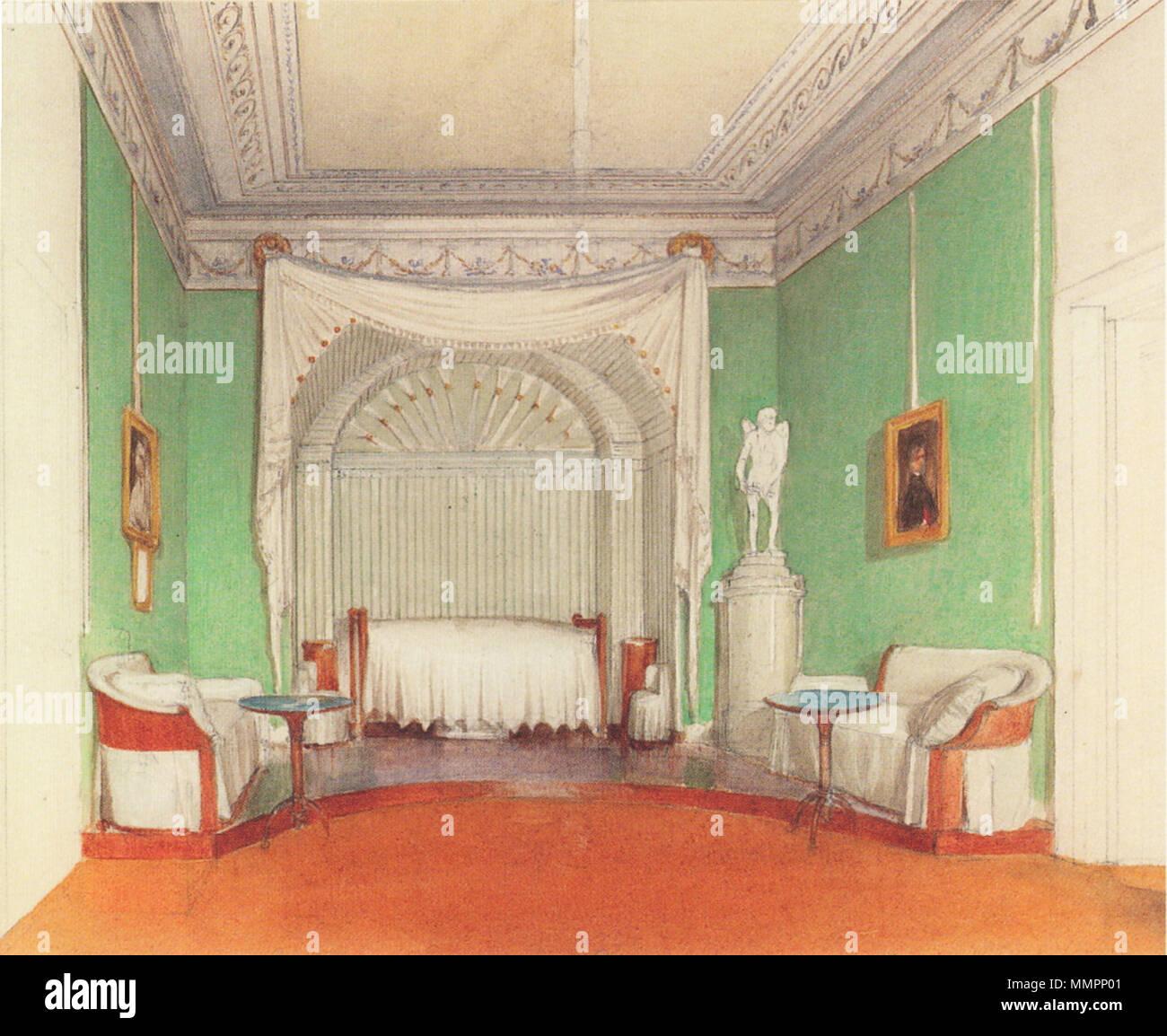 Deutsch: Das Schlafzimmer von Erzherzog Karl im Schloss Weilburg ...