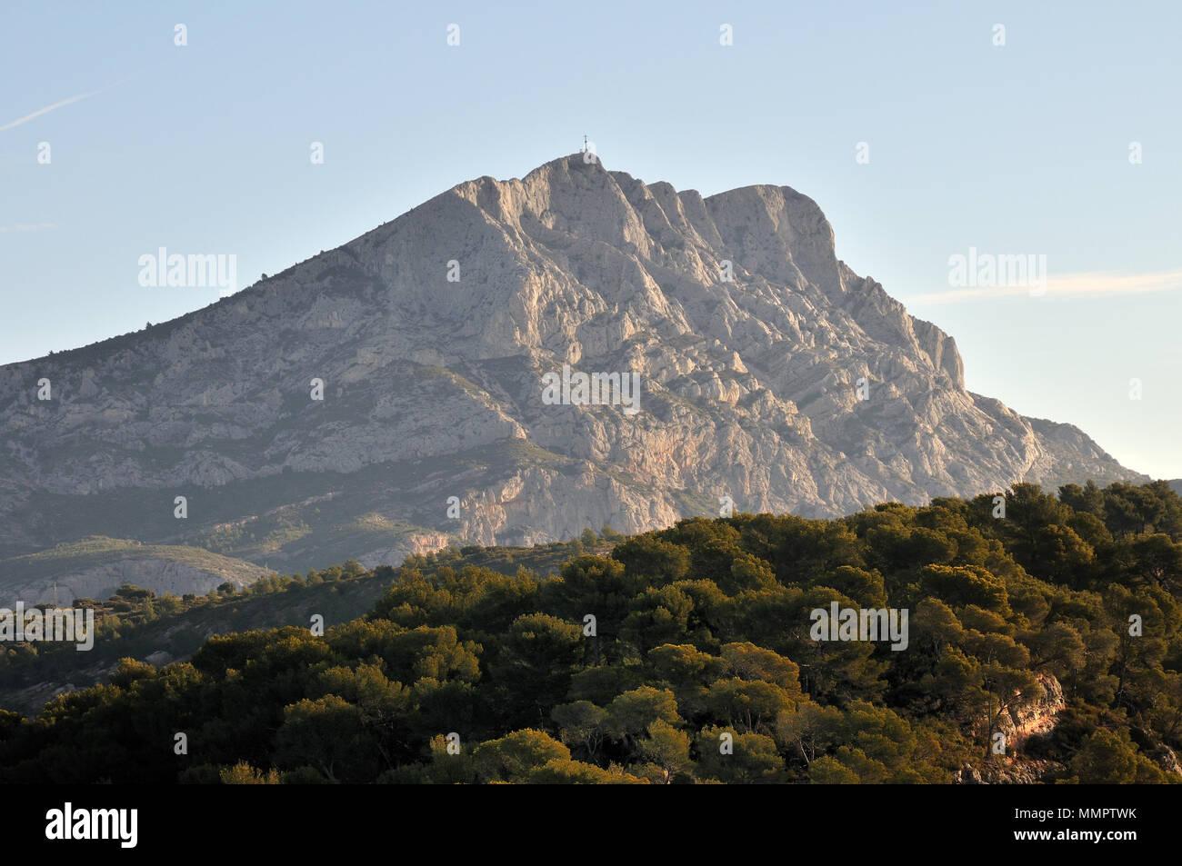 Montagne Sainte-Victoire (Provenza/Francia) Immagini Stock