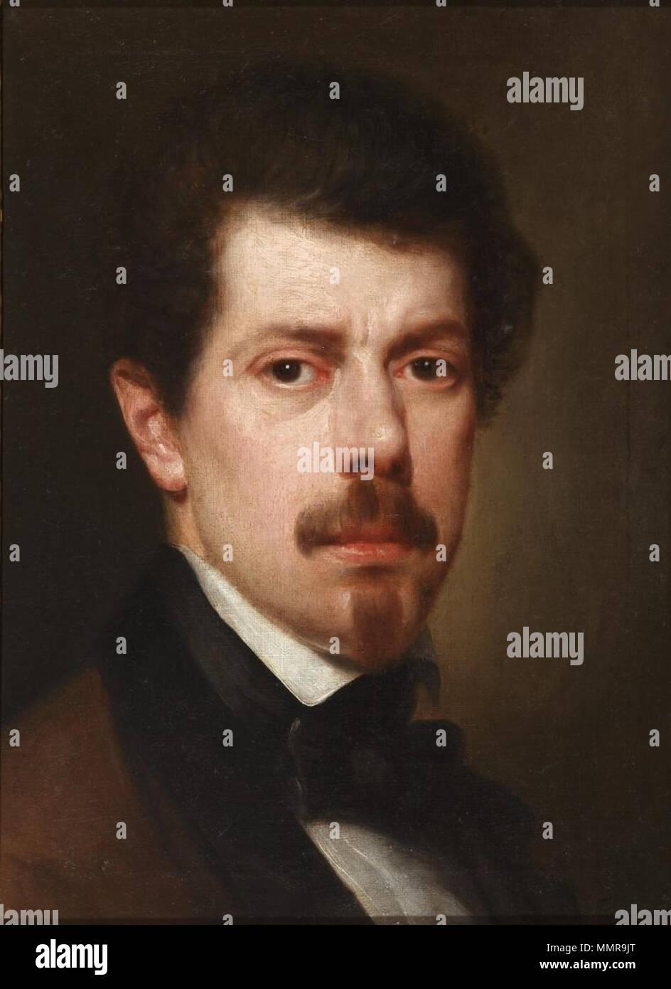 Autorretrato de Antonio María Esquivel (Museo del Romanticismo de Madrid) Immagini Stock