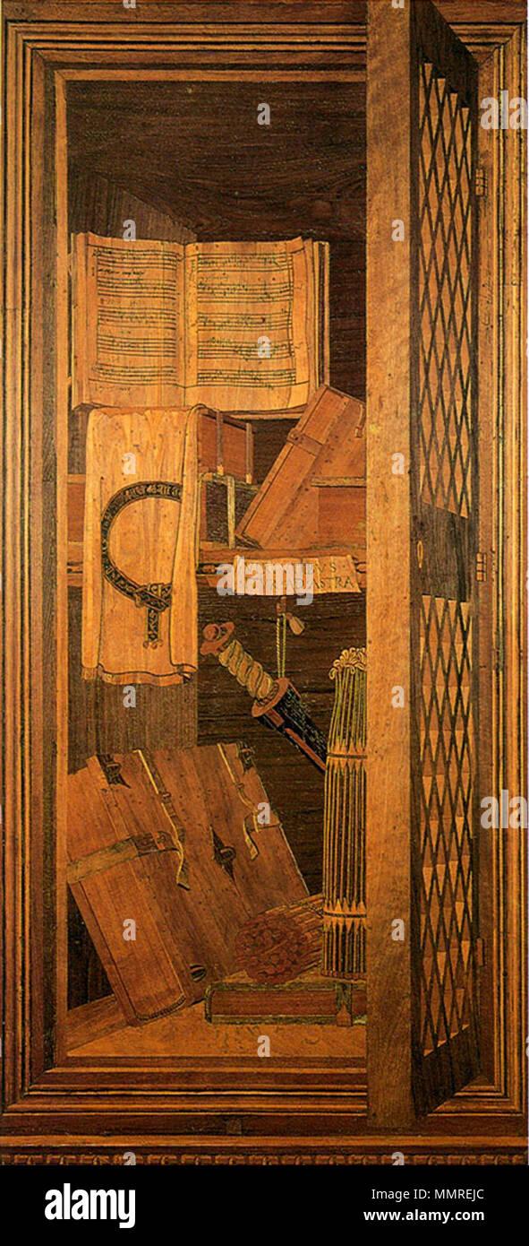 Mosaico in legno Studiolo Urbino Palazzo Ducale . Dal 1473 fino al ...
