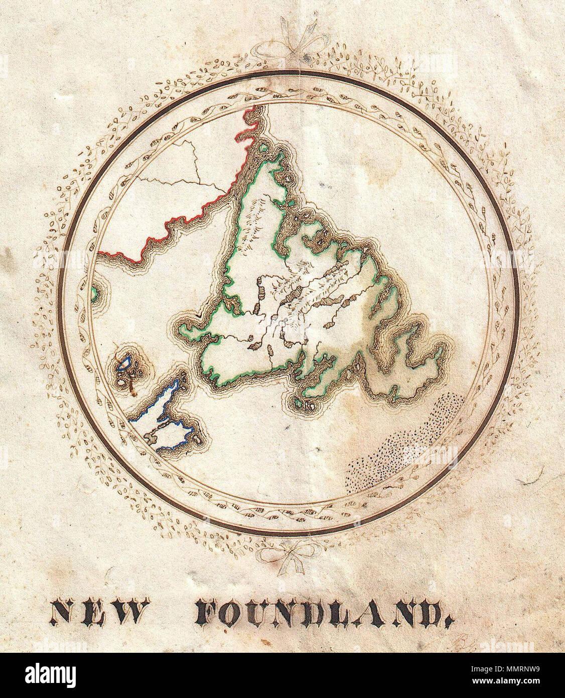 Inglese Questo E Un Bel Po Di C 1810 Schoolgirl Mappa Di