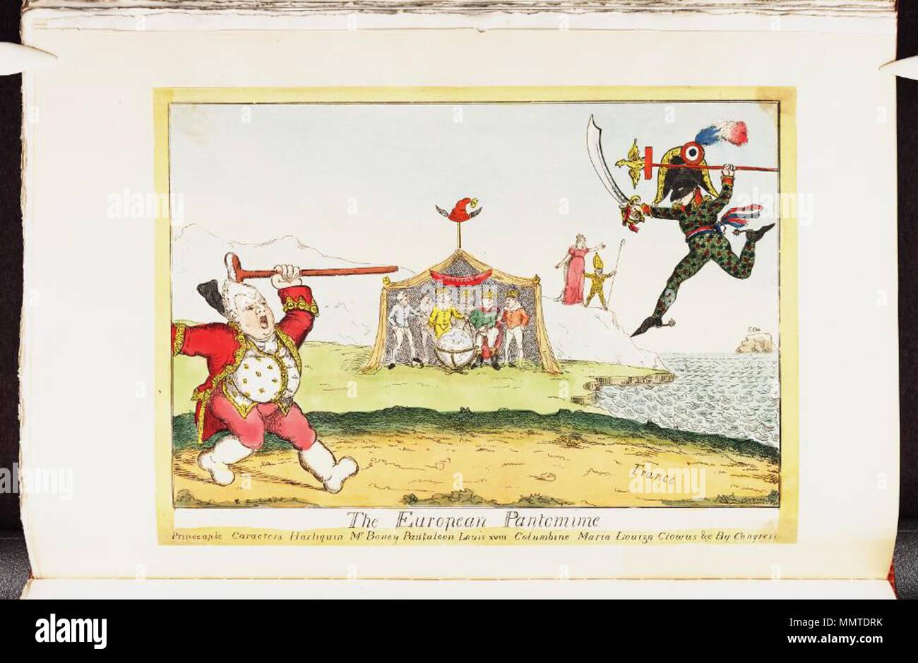 La satira su napoleone in esilio allelba. politico britannico