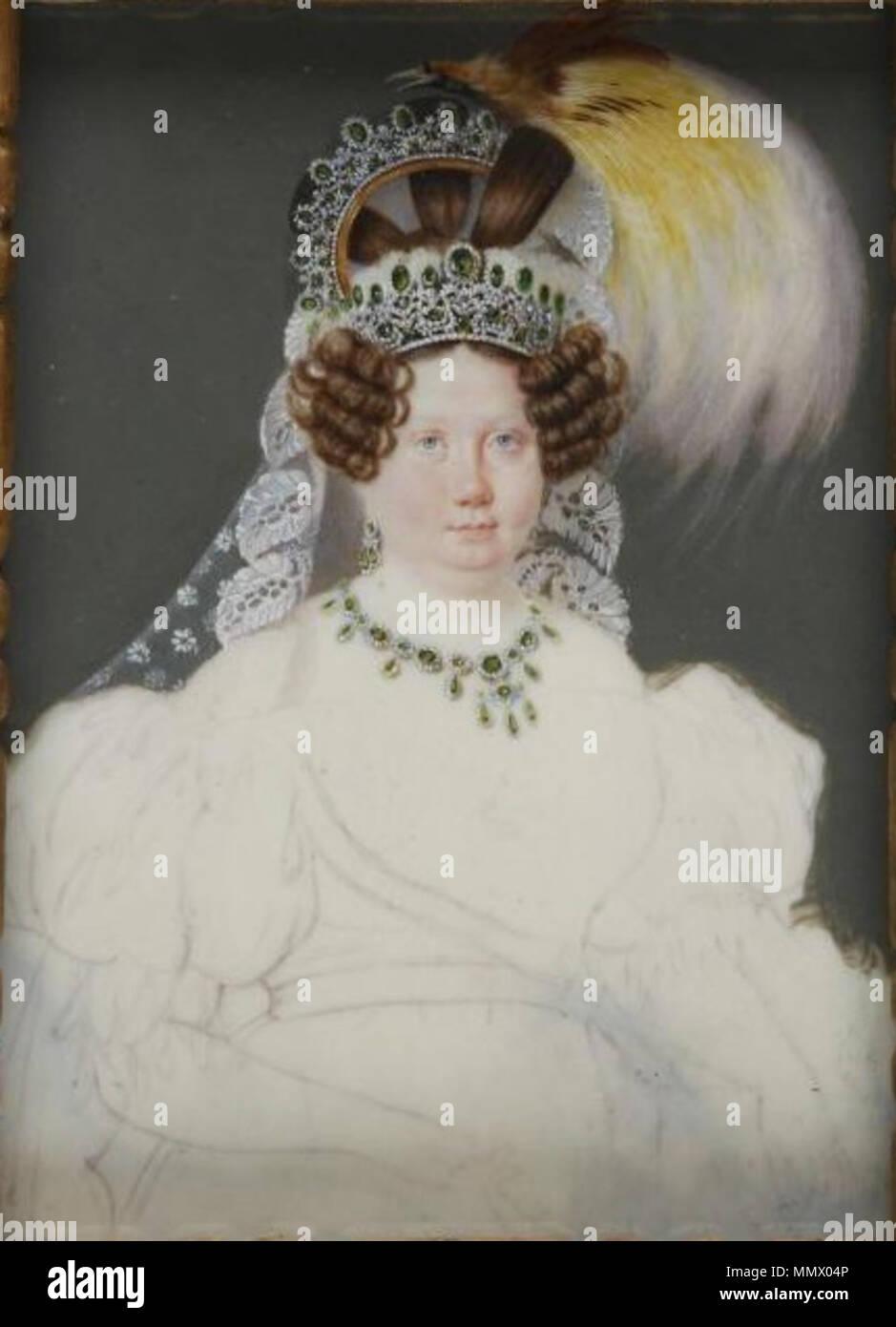 Decraene-luisa carlota de Borbón-museo del romanticismo Immagini Stock