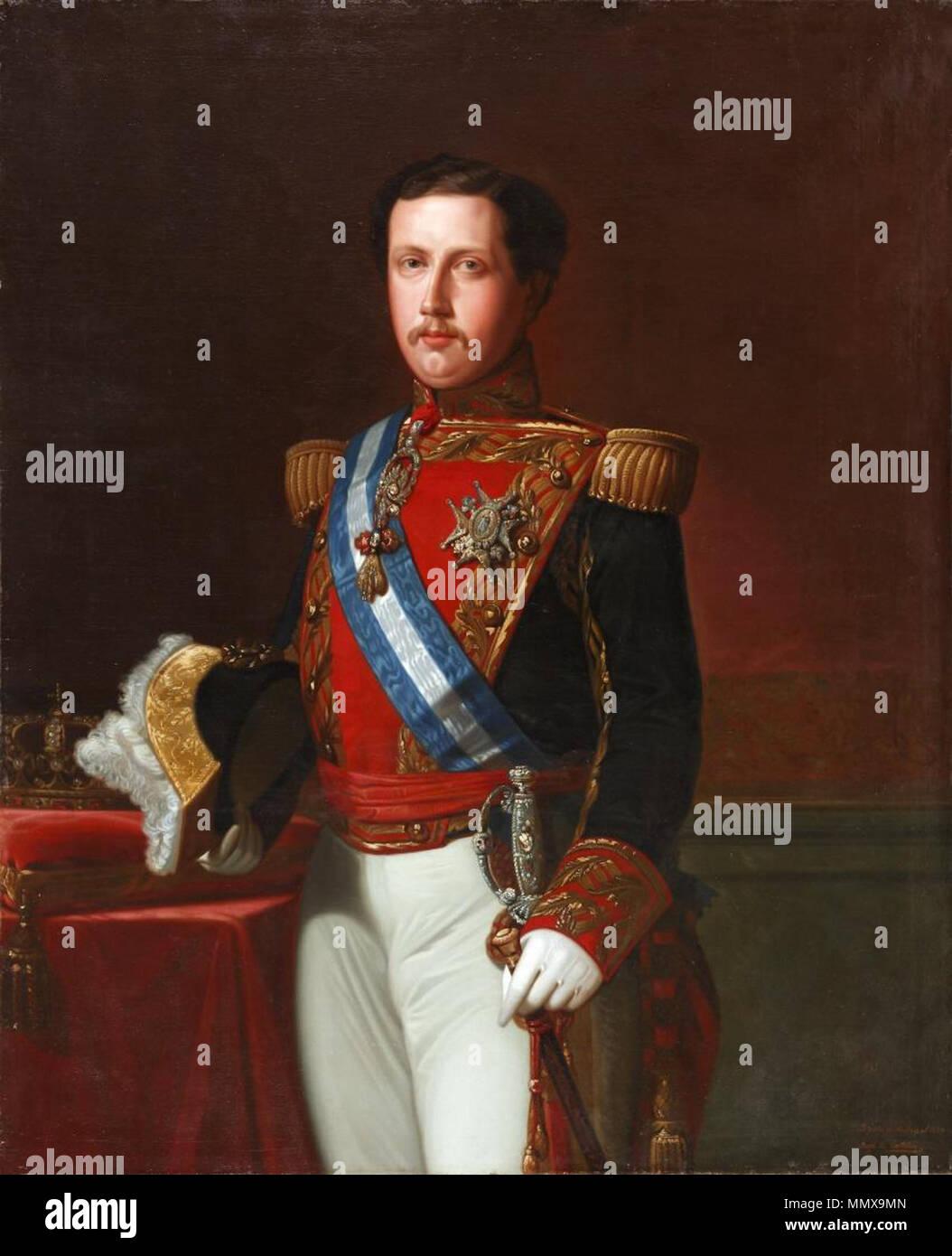 El Rey Don Francisco de Asís (Museo del Romanticismo, Madrid) Immagini Stock