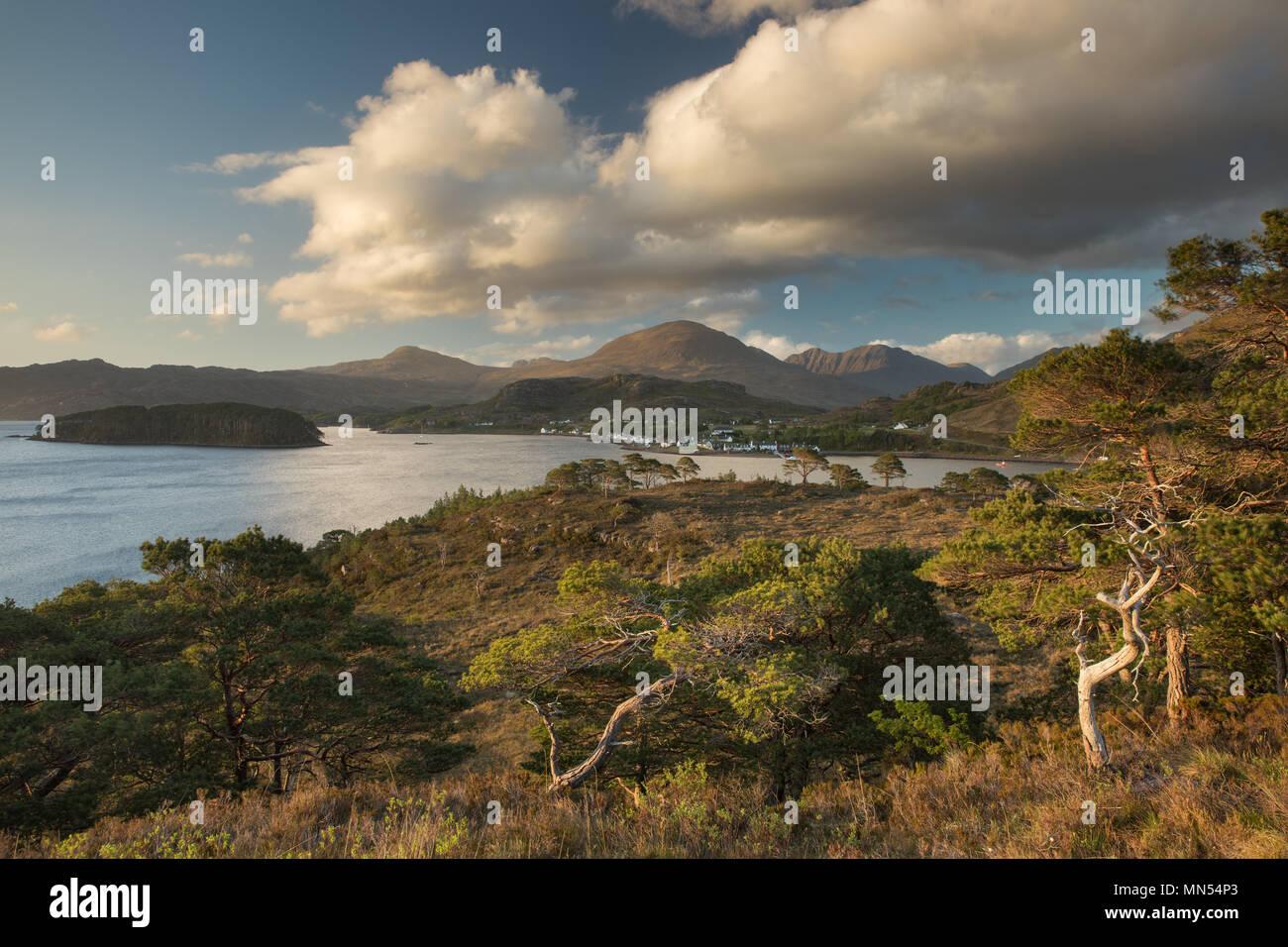Shieldaig, Loch Torridon, Wester Ross, Scozia, Immagini Stock