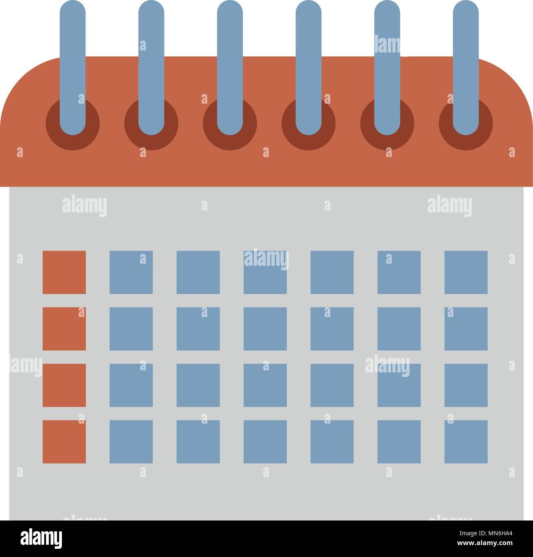 Simbolo De Calendario.Calendario Simbolo Illustrazione Vettoriale 185156780 Alamy