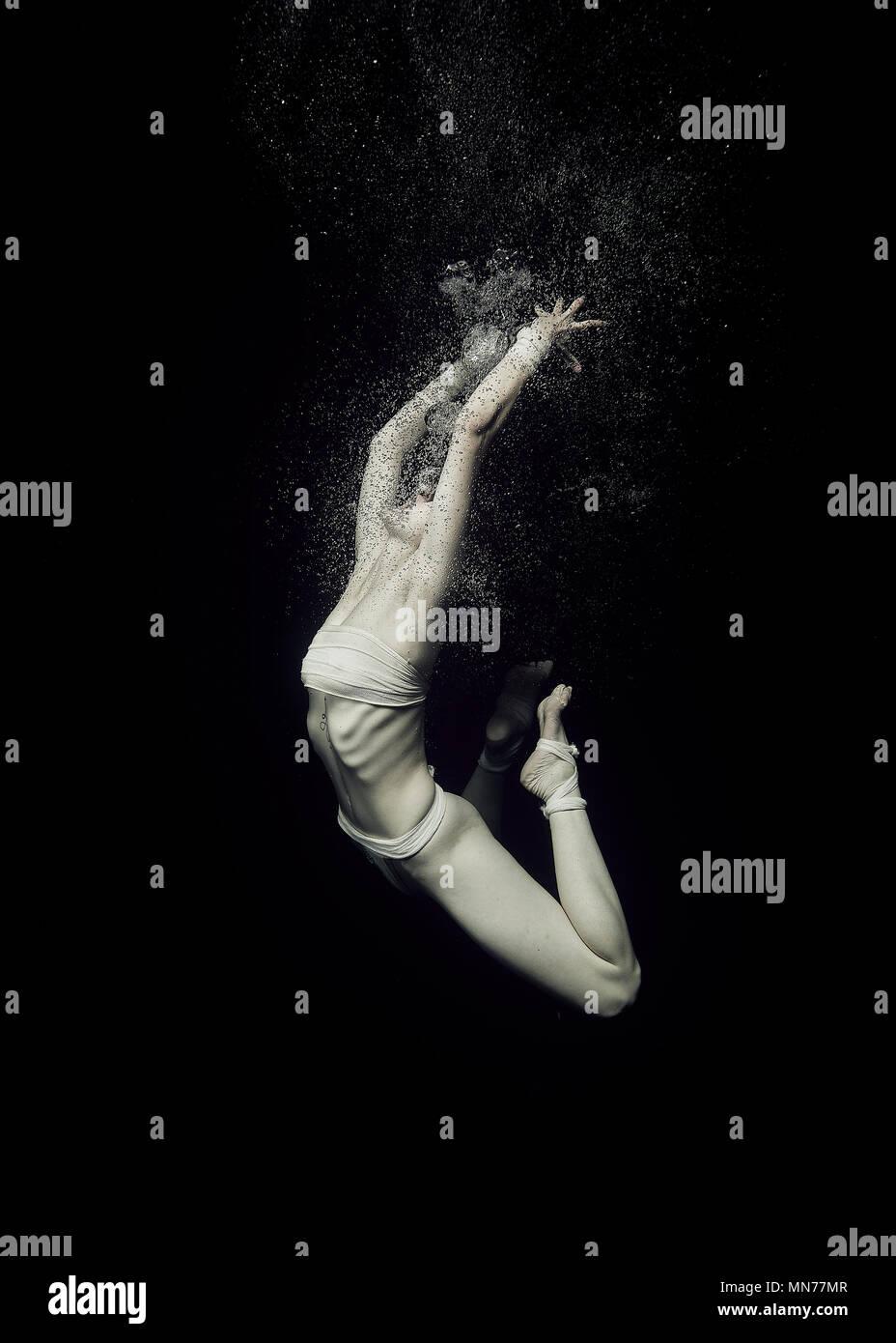 Immerso in un oceano di depressione Immagini Stock