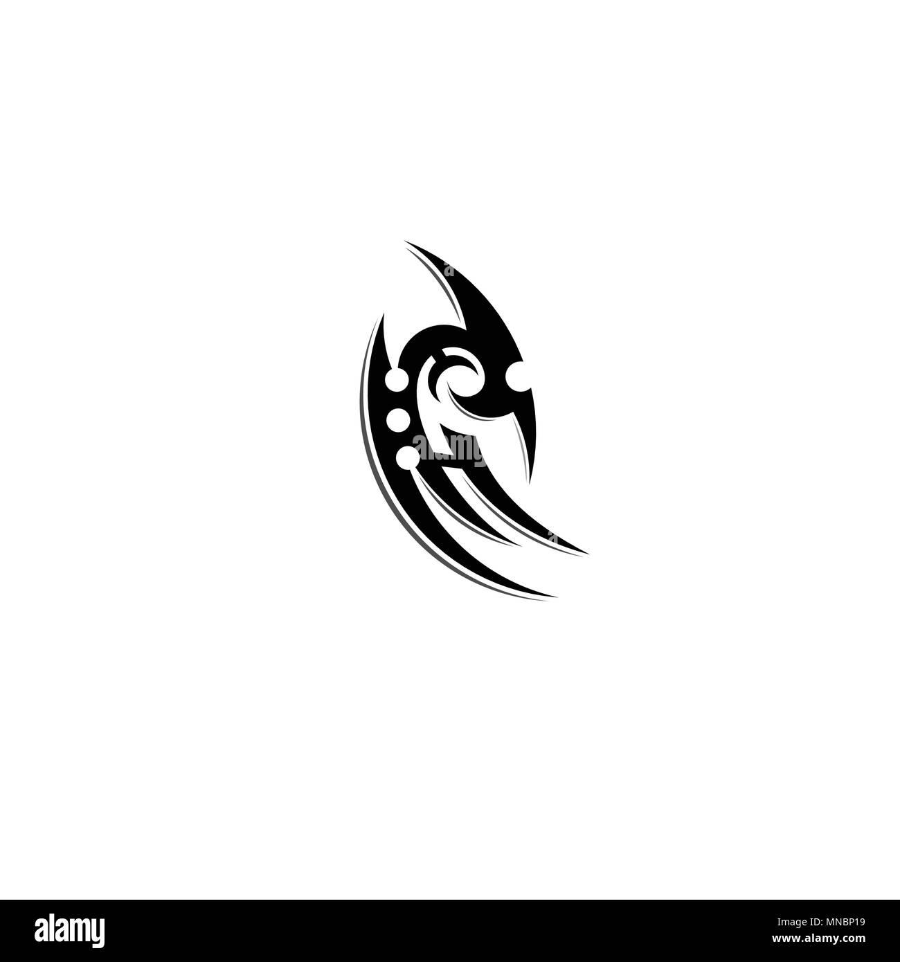 Semplice Design Tatuaggio Tribale Tatuaggio Illustrazione