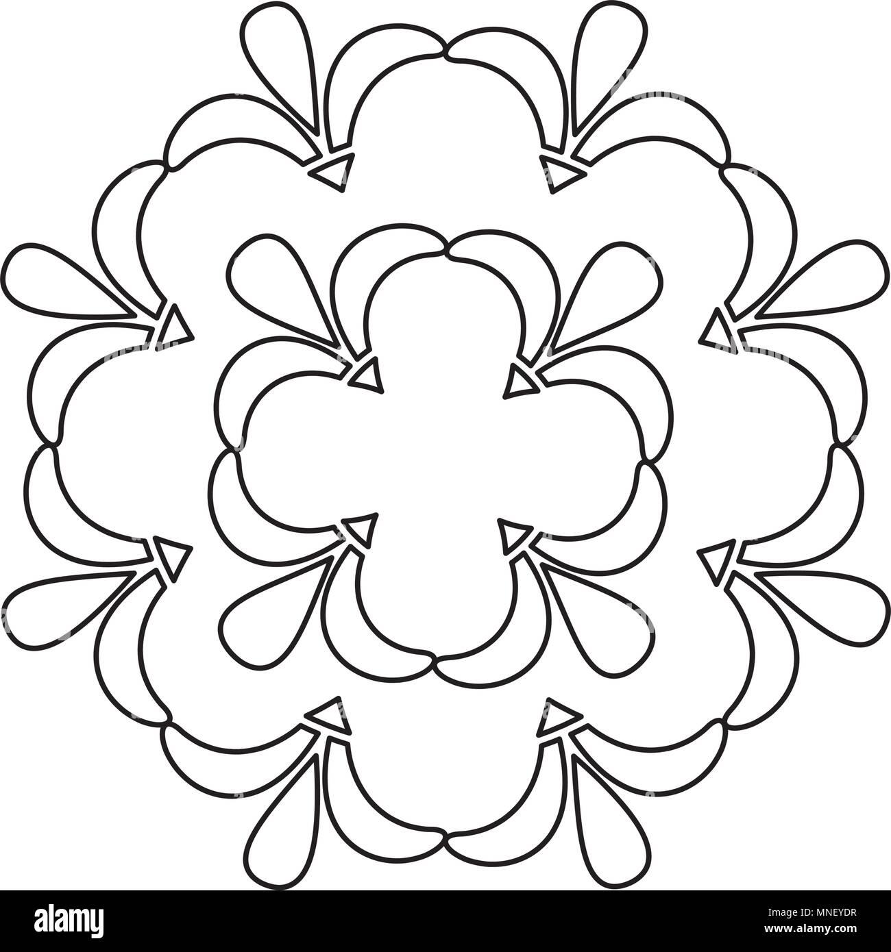 Art deco fiorire telaio ornamento decorativo di cresta Immagini Stock