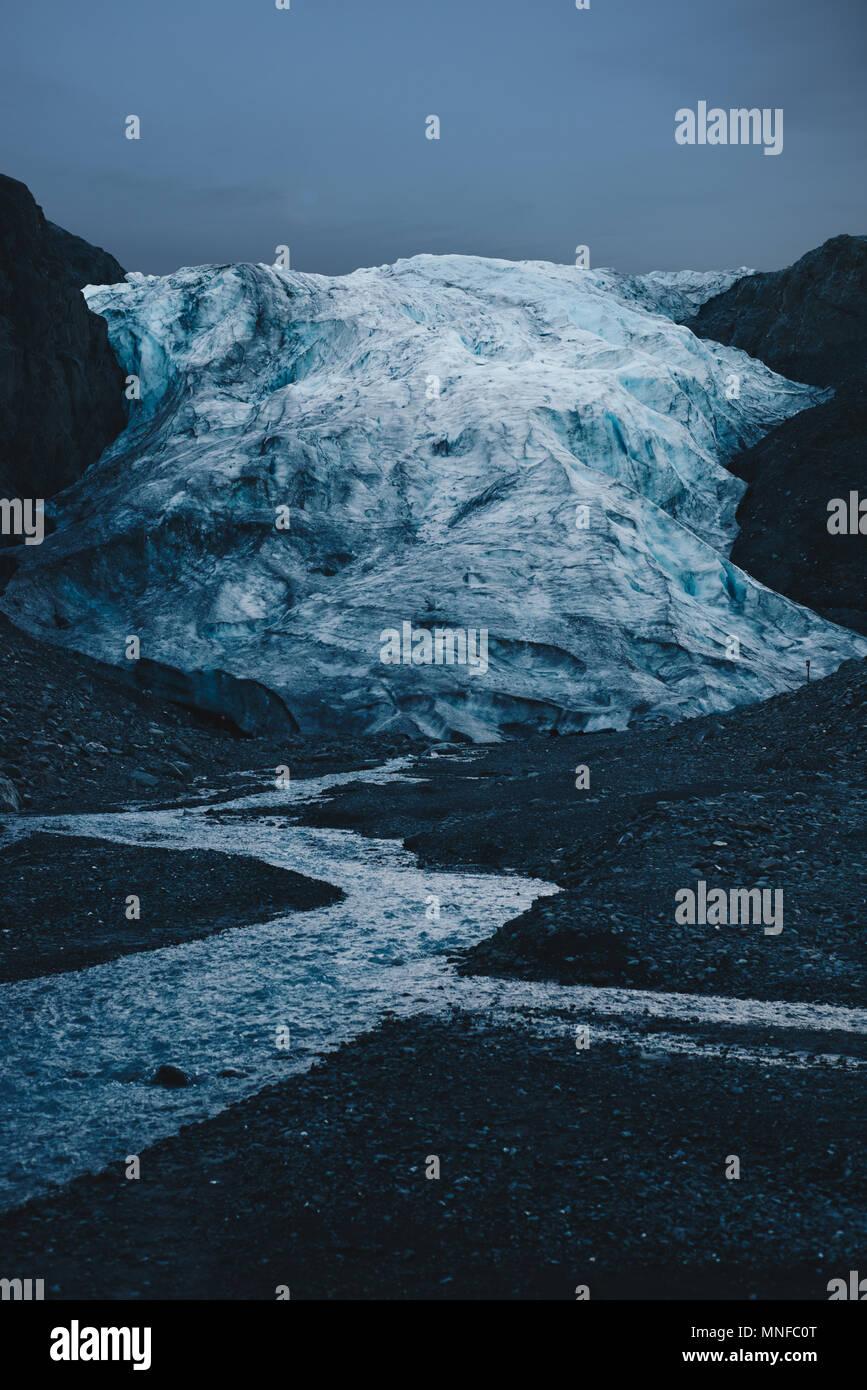 Exit Glacier Immagini Stock
