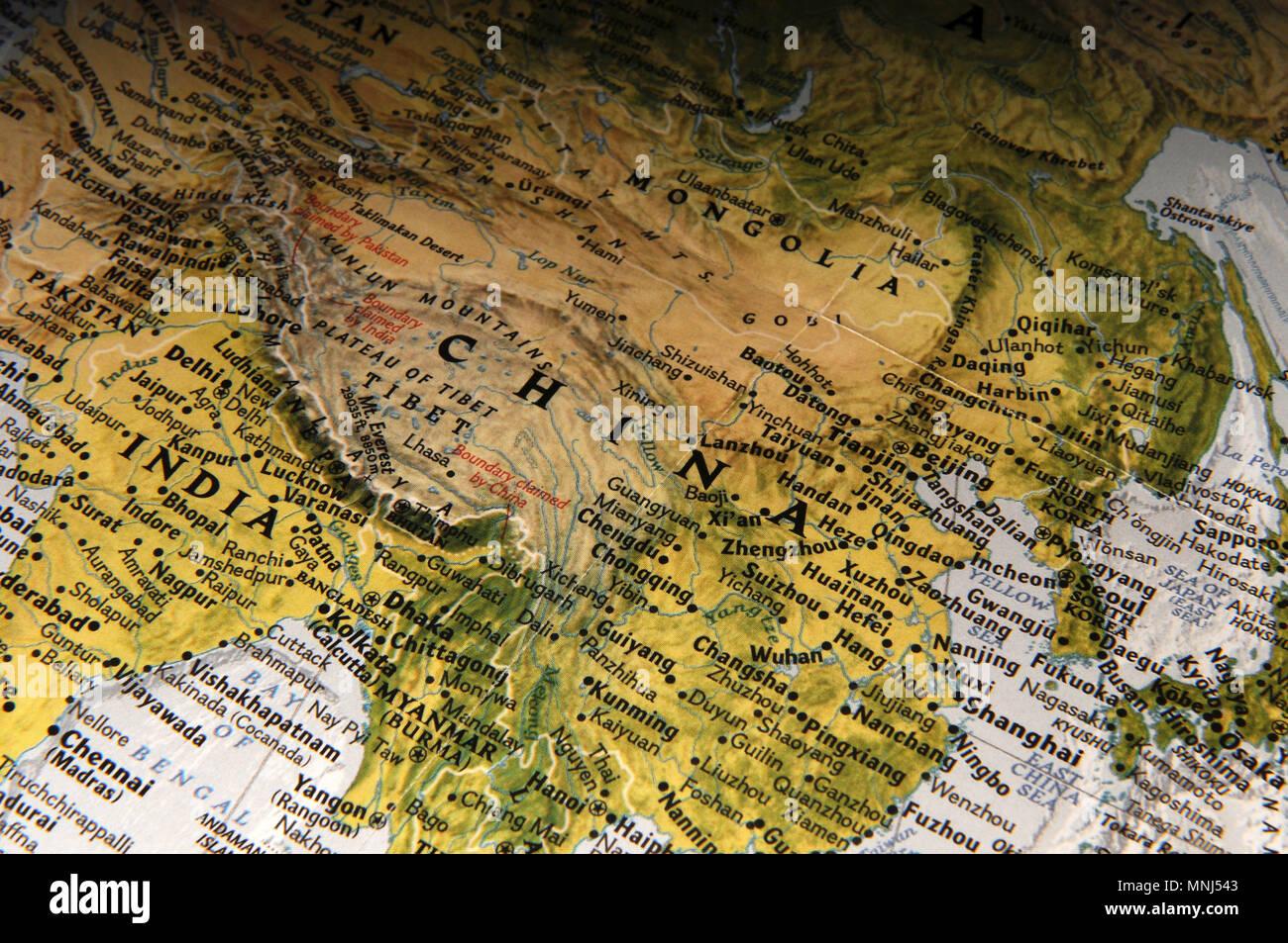 Cartina India Pakistan.India Pakistan Border Map Immagini E Fotos Stock Alamy