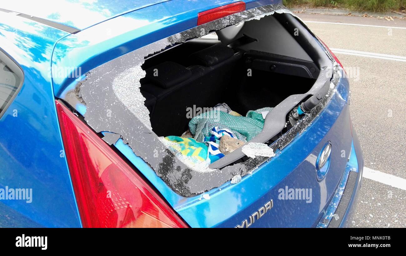 Macchina per la rottura di finestrino posteriore Immagini Stock