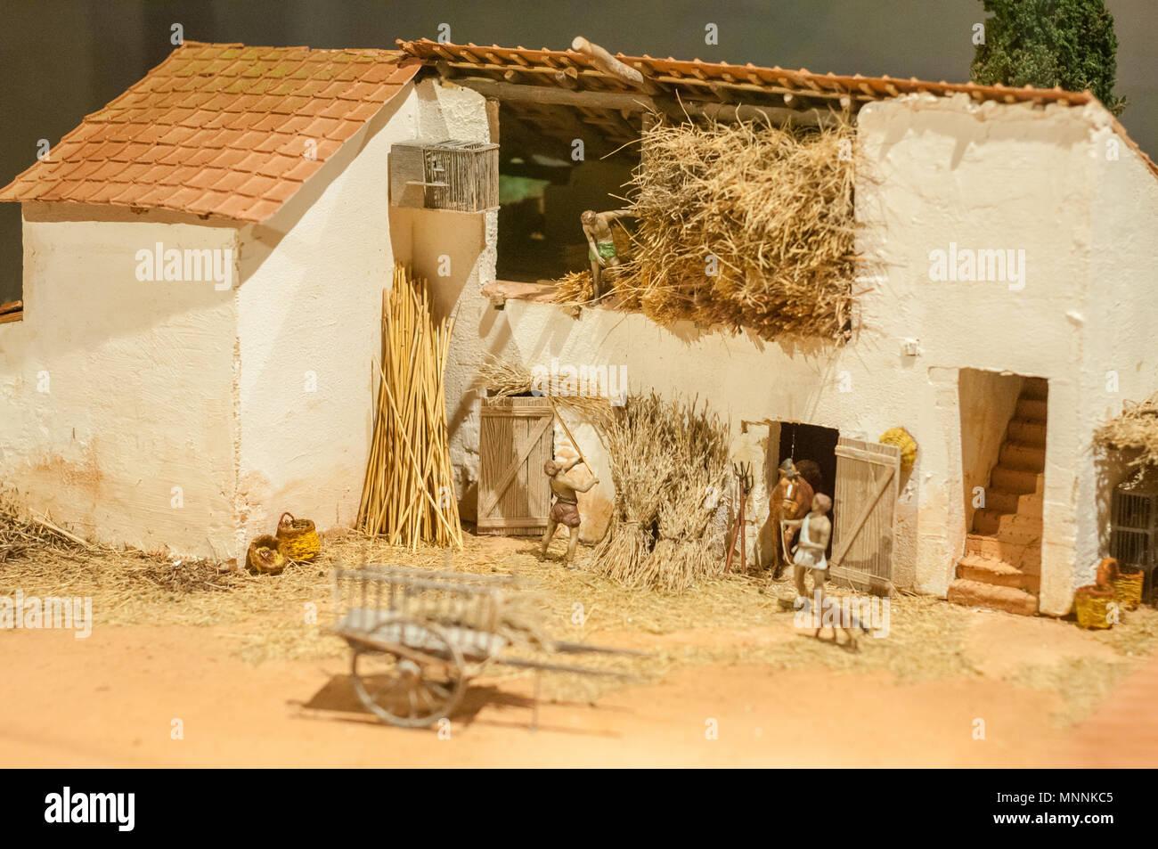 Modello Di Una Villa Romana Girona Museo Storico Della Citta