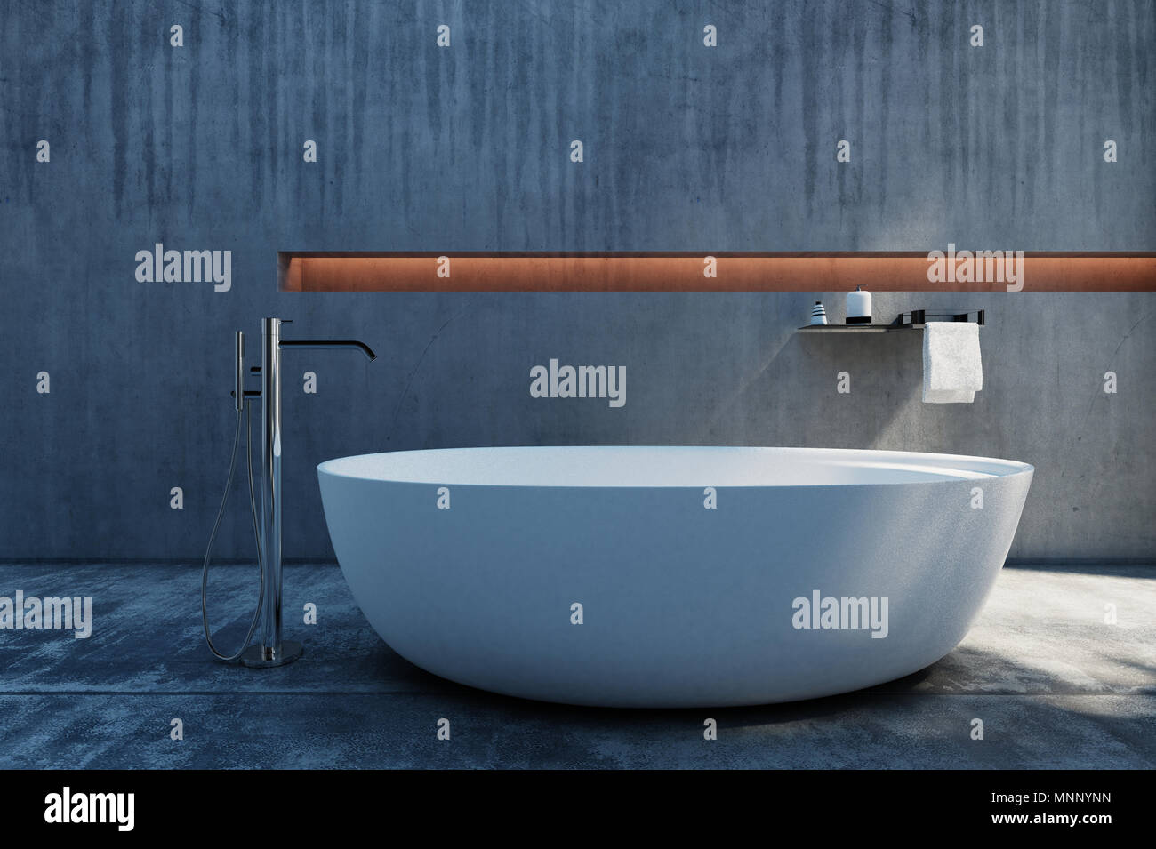Vasca Da Bagno In Cemento : Un moderno ed elegante industriale in cemento lucidato free