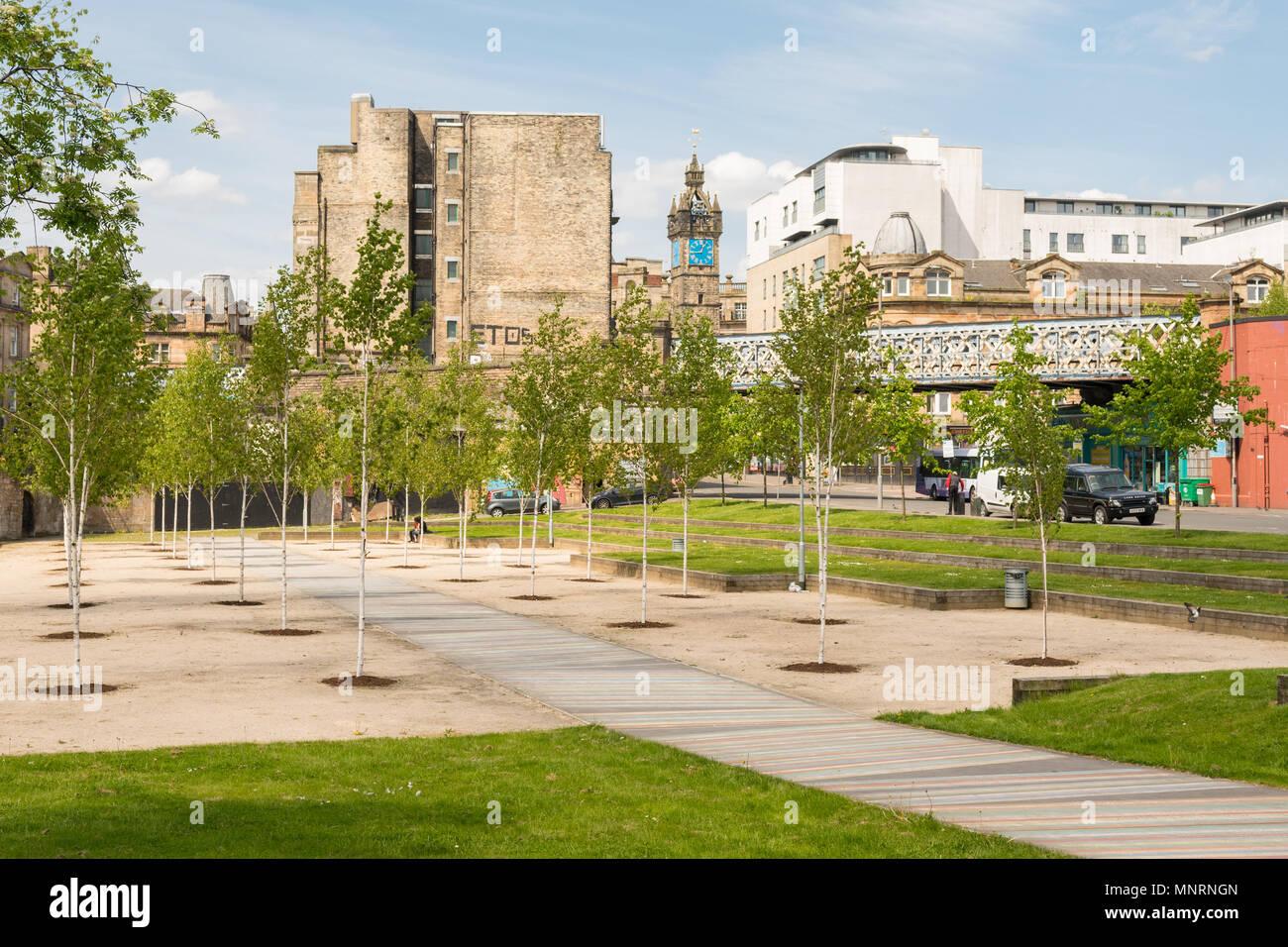 Barrowland Park, temporanea parco con percorso album, Glasgow, Scotland, Regno Unito Foto Stock