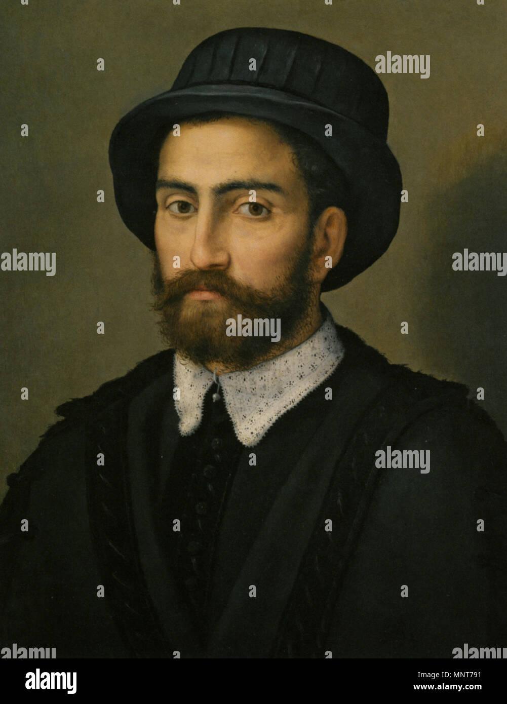3e34ee480f798e ritratto-di-un-uomo -busto-lunghezza-che-indossa-un-mantello-nero-e-cappello-del-xvi-secolo-985-pier-francesco-foschi-ritratto-di-nazioni-unite-busto- uomo- ...