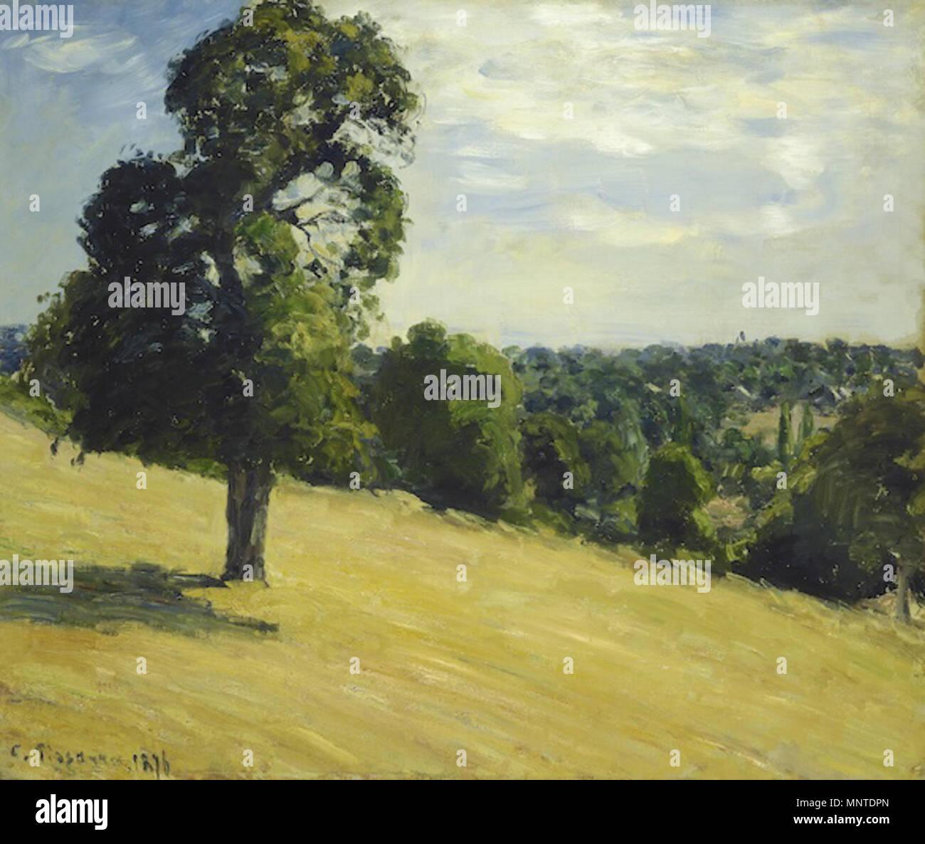 1007 Camille Pissarro - Der große Birnbaum in Montfoucault - Kunsthaus di Zurigo Immagini Stock